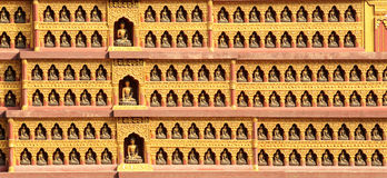 Textur av väggarna i en buddistisk tempel kathmandu Royaltyfri Fotografi