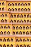 Textur av väggarna i en buddistisk tempel kathmandu nepal Royaltyfri Bild