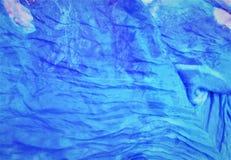 Textur av vågor, hav i blåa signaler Bakgrund dröm arkivbilder