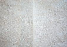 Textur av vit bakgrund för konstsilkespapperpapper Royaltyfri Bild