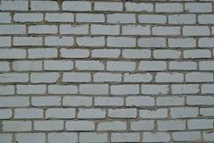 Textur av vit- och grå färgtegelstenväggen Arkivbild