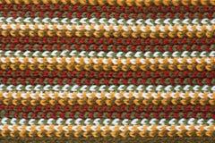 Textur av woolen tyg för randigt handarbete royaltyfri bild