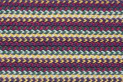 Textur av woolen tyg för randigt handarbete arkivbilder