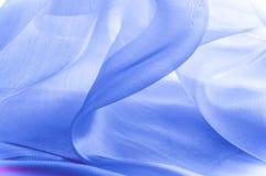 Textur bakgrund, modell blå tygsilk Abstrakt backgro Royaltyfria Bilder