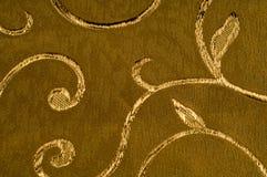 Textur bakgrund, modell Damast tyg med skinande modeller Royaltyfria Bilder