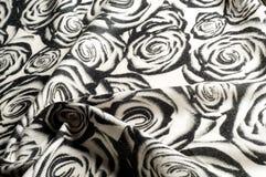 Textur bakgrund, modell En woolen halsduk som är svartvit, r Fotografering för Bildbyråer