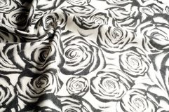 Textur bakgrund, modell En woolen halsduk som är svartvit, r Royaltyfri Bild