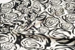 Textur bakgrund, modell En woolen halsduk som är svartvit, r Arkivfoton