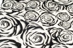 Textur bakgrund, modell En woolen halsduk som är svartvit, r Arkivfoto