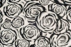 Textur bakgrund, modell En woolen halsduk som är svartvit, r Royaltyfria Bilder
