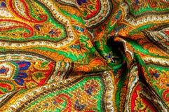 Textur bakgrund, modell Kvinnas sjalett, sjal Ljust c Fotografering för Bildbyråer