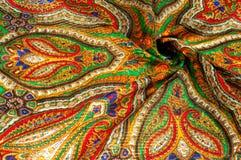 Textur bakgrund, modell Kvinnas sjalett, sjal Ljust c Arkivbilder