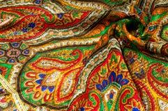 Textur bakgrund, modell Kvinnas sjalett, sjal Ljust c Royaltyfri Fotografi