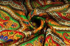 Textur bakgrund, modell Kvinnas sjalett, sjal Ljust c Arkivfoton