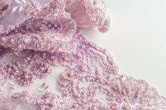 Textur bakgrund, modell Lyx 3D Beaded snör åt tyg, han Royaltyfria Foton