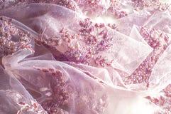 Textur bakgrund, modell Lyx 3D Beaded snör åt tyg, han Royaltyfri Bild