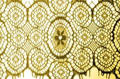 Textur bakgrund, modell tyg snör åt Guld- brunt Tagandecl Royaltyfria Foton