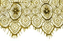 Textur bakgrund, modell tyg snör åt Guld- brunt Tagandecl Arkivfoton