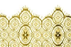 Textur bakgrund, modell tyg snör åt Guld- brunt Tagandecl Royaltyfria Bilder