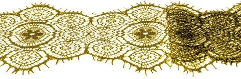 Textur bakgrund, modell tyg snör åt Guld- brunt Tagandecl Arkivbilder