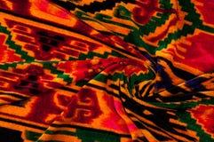 Textur bakgrund, modell Uzbekiska motiv för torkduk Indiskt tyg fotografering för bildbyråer