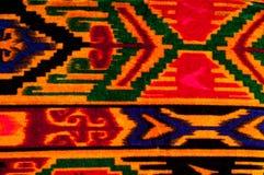 Textur bakgrund, modell Uzbekiska motiv för torkduk Indiskt tyg royaltyfria bilder