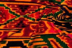 Textur bakgrund, modell Uzbekiska motiv för torkduk Indiskt tyg arkivbild