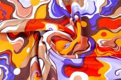 textur bakgrund, siden- tyg av en abstrakt färgläggning Abstr Arkivfoton