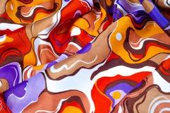 textur bakgrund, siden- tyg av en abstrakt färgläggning Abstr Arkivbilder