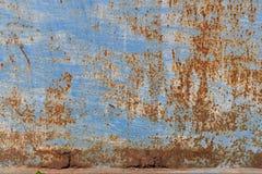 textur Belägga med metall rost Arkivbild