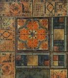 Textur belagt med tegel golv i en mosaikstil Royaltyfri Foto