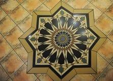 Textur belagt med tegel golv i en mosaikstil Arkivbild