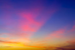 Textur cloud sunset sky background Royalty Free Stock Images