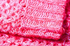 Textur. Detail of a pink pullover Royalty Free Stock Image