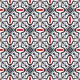 Textur eller bakgrund för sömlös abstrakt röd krom metallisk geometrisk Vektor Illustrationer