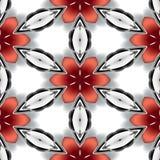 Textur eller bakgrund för sömlös abstrakt silver för krom metallisk röd Stock Illustrationer
