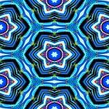 Textur eller bakgrund för sömlösa abstrakt begreppblått geometrisk med olje- fläckar Stock Illustrationer