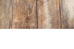 Textur en bois de fond et chemin de coupure, d'isolement sur le fond blanc Photo libre de droits