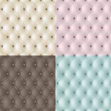 textur för äktat läder för 4 färger set Arkivbild