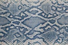 Textur för äktt läder med efterföljd av den exotiska reptilen med en matte yttersida, moderiktig bakgrund Ideal för att bekläda o Royaltyfri Bild