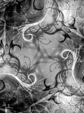 textur för 2 främlingfractalswirls Arkivbild