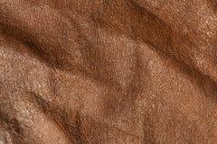 Textur för Absract bruntleaher Royaltyfria Bilder