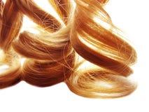 Textur för abstrakt begrepp för stil för mode för hårbakgrund lockig blond Royaltyfri Fotografi