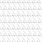 Textur för abstrakt sexhörnig modell för vektor vit Arkivbilder