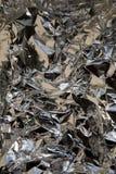 textur för aluminum folie Arkivbilder