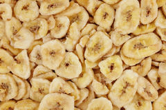 Textur för bakgrund för bananchiper abstrakt Royaltyfria Foton