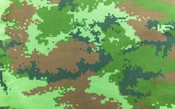 Textur för bakgrund för Digital grafisk militär kamouflagetyg Royaltyfri Bild
