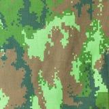 Textur för bakgrund för Digital grafisk militär kamouflagetyg Arkivfoto