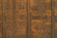 Textur för bakgrund för metall för rostig apelsinbruntrost gammal Arkivbild
