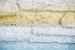 Textur för bakgrund för vägg för tegelsten för granitsten dekorativ sömlös Royaltyfri Bild